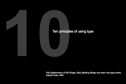 10PrinciplesofType