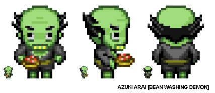 Pixel Character - Bean Washer